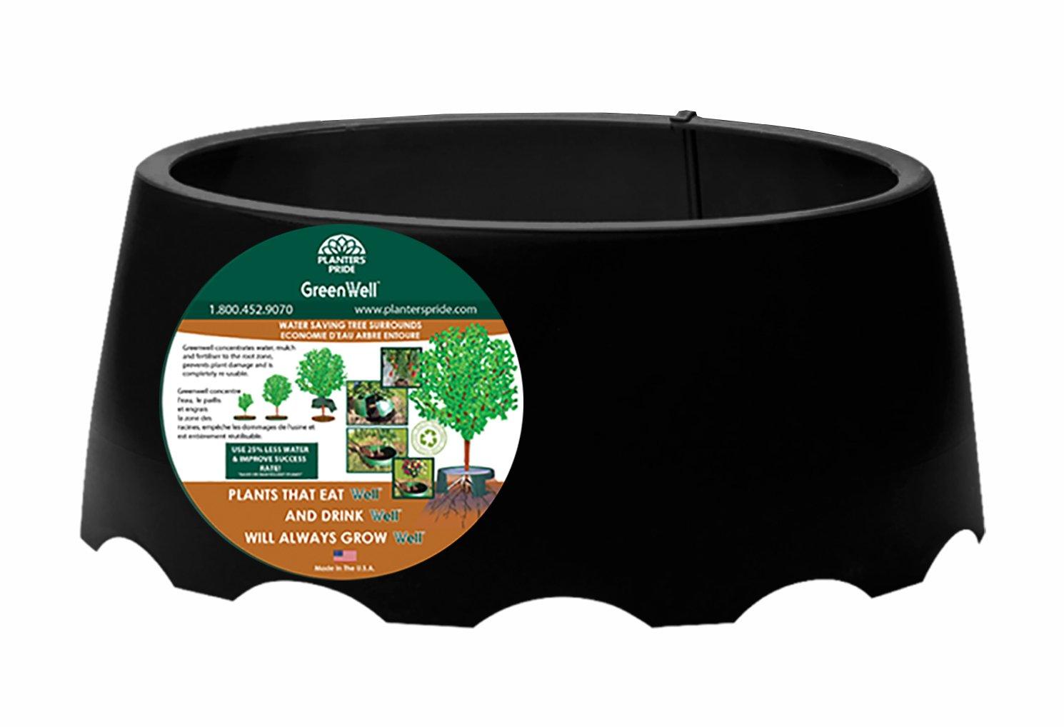 Akro-Mils Green Well Water Saver Tree Ring, 17'' x 8'', Black by Akro-Mils