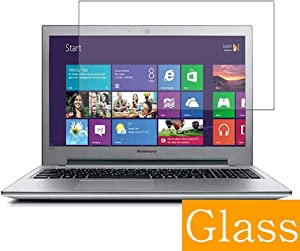 """Synvy Tempered Glass Screen Protector for Lenovo ideapad Z510 15.6"""" Visible Area Protective Screen Film Protectors 9H Anti-Scratch Bubble Free"""