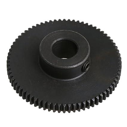 CNBTR 0.5 Module Top Screws Gear Gear 72 Teehth 8mm Inner Diameter 45# Steel Spur Pinion Blak