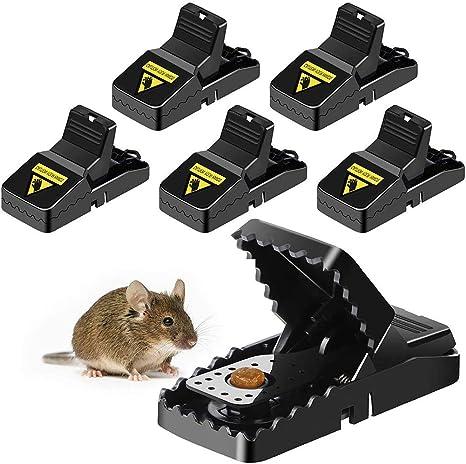 INTVN Trappola per Topi Uso Esterno e Interno Senza Pesticid 6 Pezzi Trappola per Topi Ratti Professionale Riutilizzabile Facile da Pulire