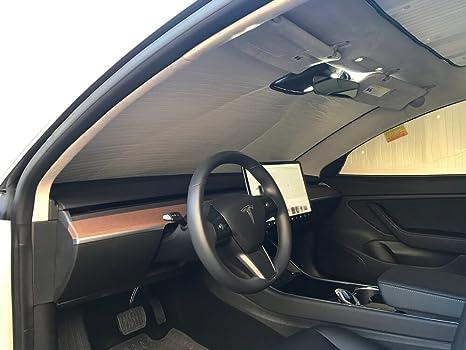 The Original Windshield Sun Shade Custom Fit For Tesla 3 Sedan 2018 2019 Silver Series