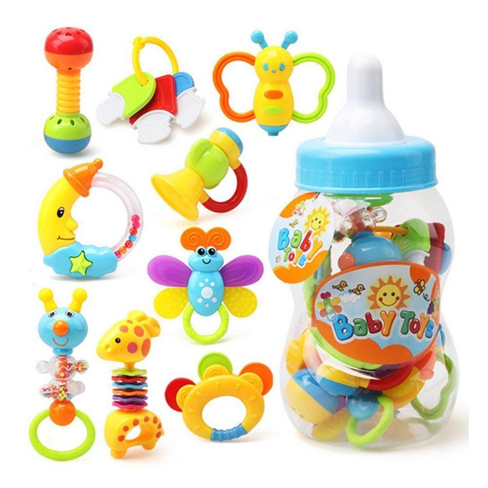 YeahiBaby Primer sonajero y mordedor juguete con mamadera gigante pcs bebé agarre