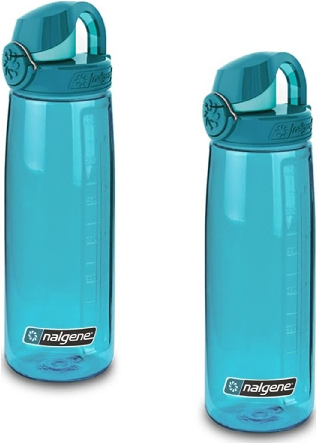 NEW Nalgene Tritan OTF Water Bottle 24oz Clear with Blue Cap