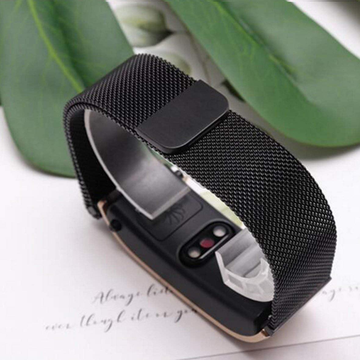 Heaviesk F/ür Huawei TalkBand B5 Edelstahl Magnetic Suction Loop Uhrenarmband