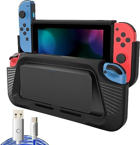 COODIO 2in1 Batería Externa y Grip Para Nintendo Switch, 10000mAh ...