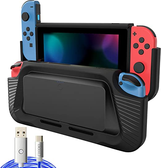 COODIO 2in1 Batería Externa y Grip Para Nintendo Switch, 10000mAh ...