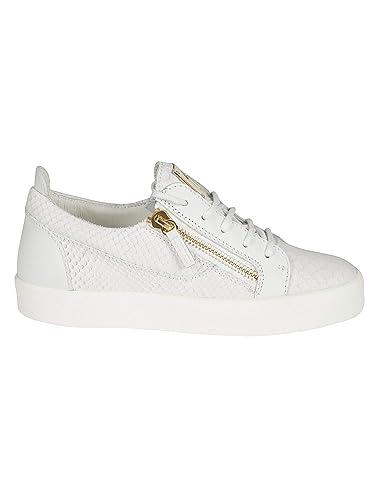 a5848357e3fb2 Amazon.com: Giuseppe Zanotti Design Women's RW70000014 White Leather ...