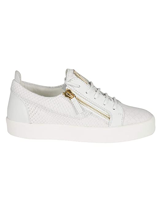 e5af752e2820 Amazon.com  Giuseppe Zanotti Design Women s RW70000014 White Leather  Sneakers  Shoes