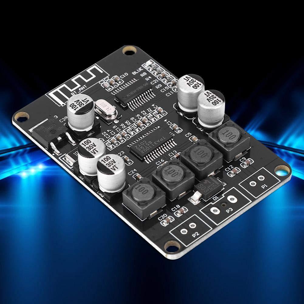 m/ódulo de amplificador est/éreo digital de doble canal de 2x15 W,interfaz de 2 pines adecuado para DC 10-25V 4//6//8//10 ohmios Altavoz Amplificador de potencia TPA3110 para audio inal/ámbrico Bluetooth