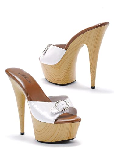 eb9eaf6cae Amazon.com | Ellie Shoes Women's 6 Inch Pointed Heel Mule with Buckle | Mules  & Clogs