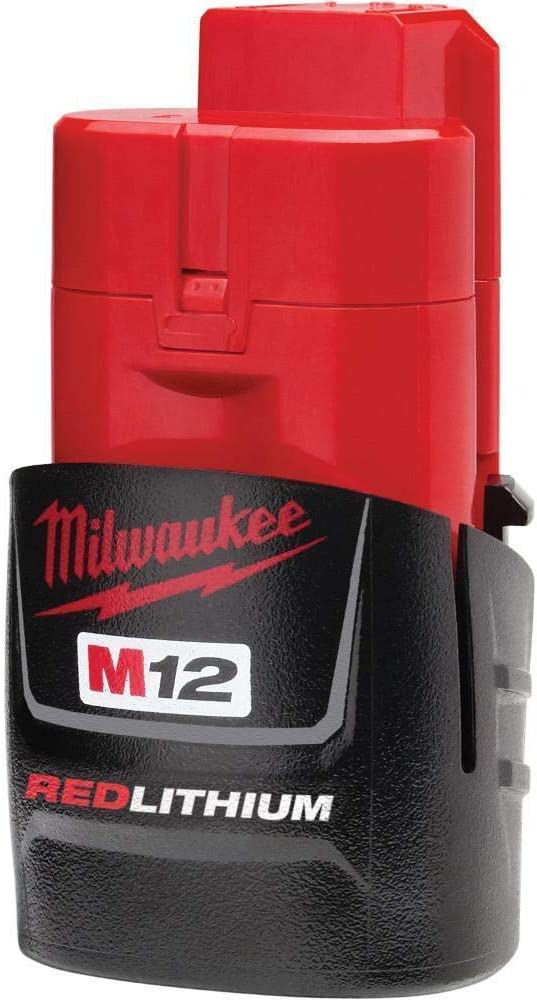 Milwaukee 48-11-2401 Genuine OEM M12 REDLITHIUM 12 Volt 1.5 Amp Compact Lithium Ion Battery with Overload Protection for Cordless Power Tools