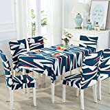 Linen cloth table cloth upholstery chair cushion set chairs and table cloth cover the tea rectangular continental modern minimalist, Hawaiian blue 4 upholstery +130180 Table Cloth