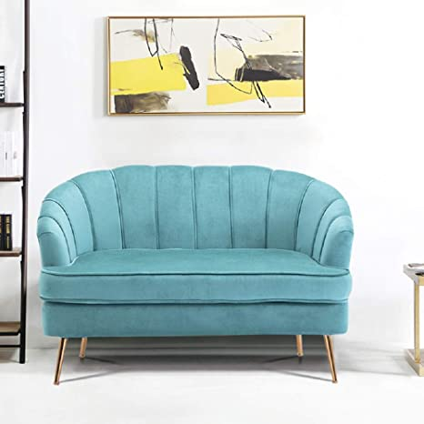 Excellent Warmiehomy Comfy Velvet 2 Seater Sofa 2 Tub Chair Sofa Seating Double Couch Lounge Living Room Furniture Turquoise Forskolin Free Trial Chair Design Images Forskolin Free Trialorg