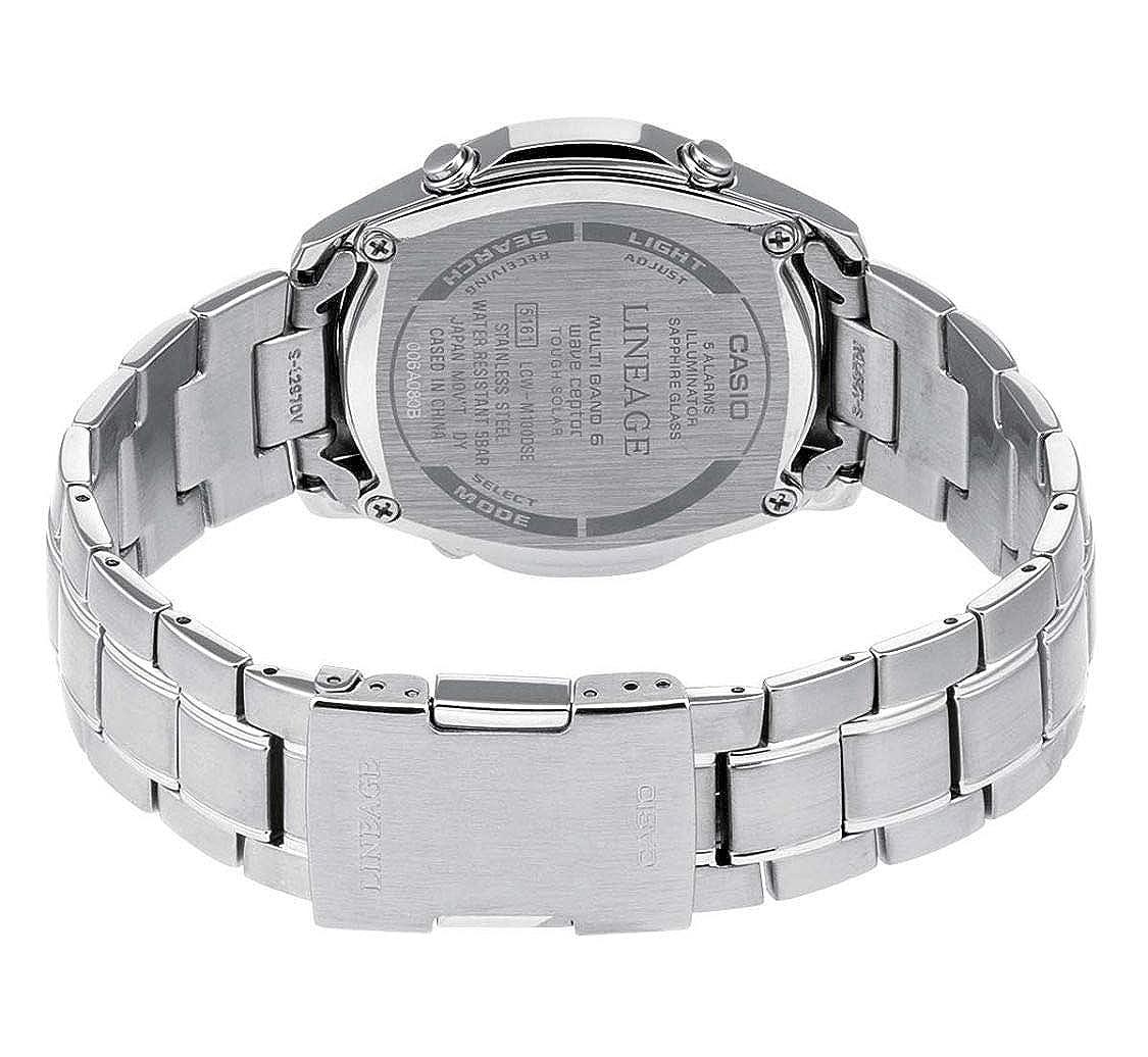 Casio Reloj Analógico-Digital para Hombre de Cuarzo con Correa en Acero Inoxidable LCW-M100DSE-7A2ER: Amazon.es: Relojes