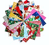 "100 4"" Christmas Medley Charm Pack #2 20 Different patterns- 5 of each"