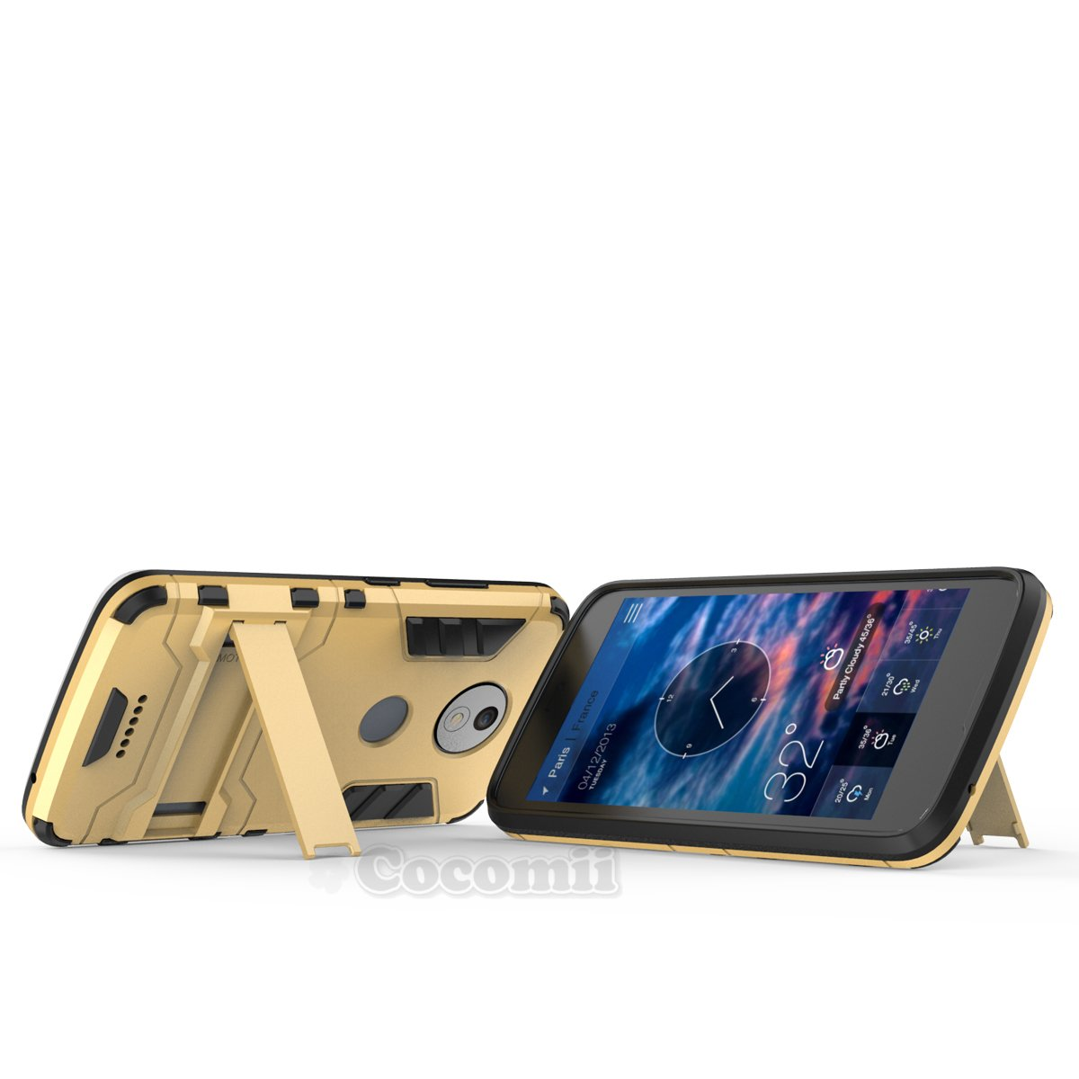 Cocomii Iron Man Armor Motorola Moto C Plus Funda [Robusto] Superior Táctico Sujeción Soporte Antichoque Caja [Militar Defensor] Cuerpo Completo Sólido Case ...