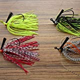 BephaMart Lead Head Hook Fish Lure Rubber Jig Head Crank Single Hook Tassel