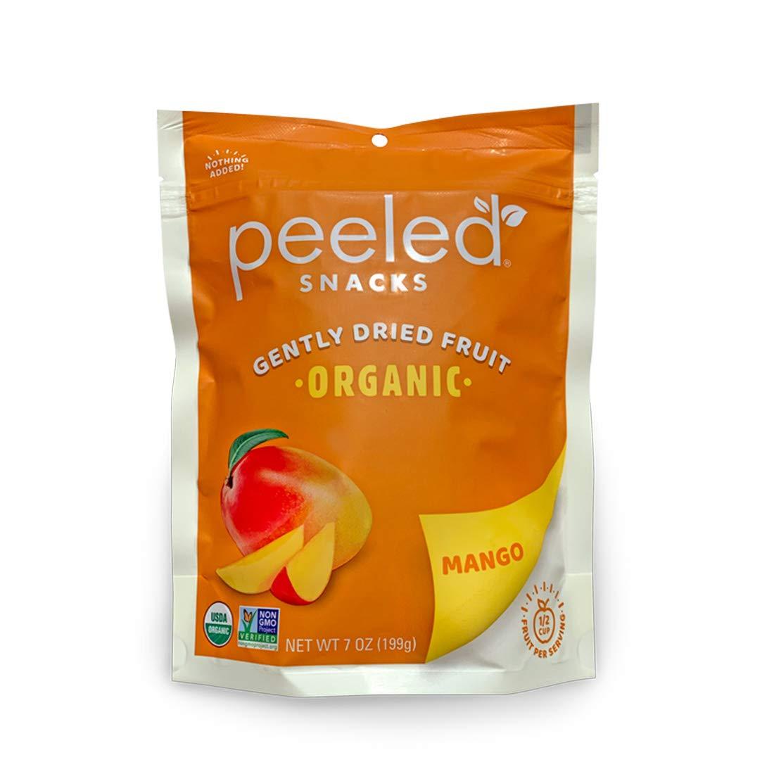 Peeled Snacks Organic Dried Fruit, Mango, 7 Ounce