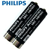 Philips Short Sleeve SBCHB700S - 700 mah NiMH Rechargeable Batteries ** 2 Pack **