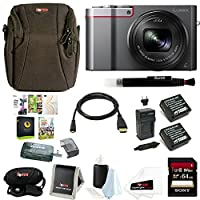 Panasonic Lumix DMC-ZS100 Digital Camera (Silver) Bundle