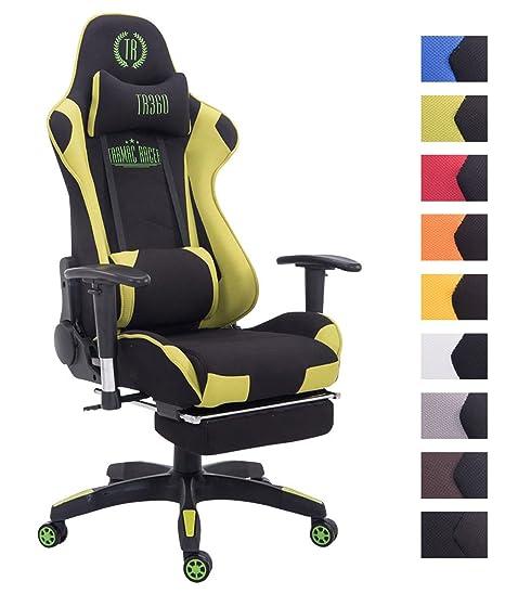 XL Racing Bürostuhl Turbo Stoff Gaming Drehstuhl 150 kg Belastbar Chefsessel
