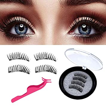 fa7512a3e19 False Eyelashes Magnetic False Eyelashes Reusable 3D Without Glue Faux  Natural Handmade Eyelashes Ultra Thin,