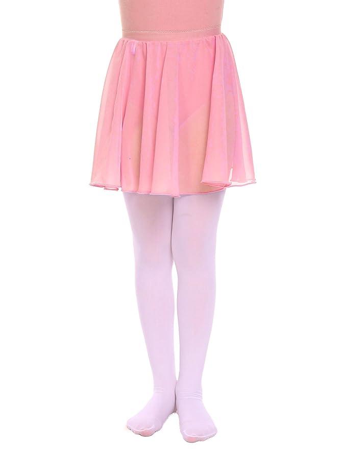 0301502ab3415 dPois Kids Girls Basic Dance Active Dress Wrap Skirt Classic Chiffon  Dancewear