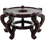 Oriental Furniture Rosewood Fishbowl Stand - Size 9.5 in. Base Diameter