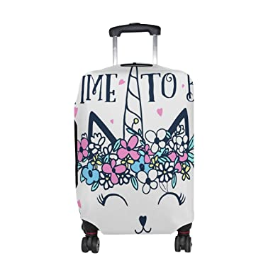 7cd47ddb0 Cooper girl Cat Time To Unicorn Travel Luggage Cover Suitcase Protector Fits  23-26 Inch