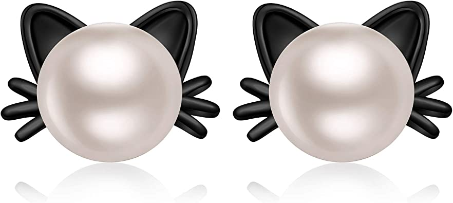 garden-tool-sets Pearl Jewelry Stud Earrings,Freshwater Pearl Earrings for Women Gift Box,925 Sterling Silver Earrings 2018,Wedding and Engagement Jewelry Black