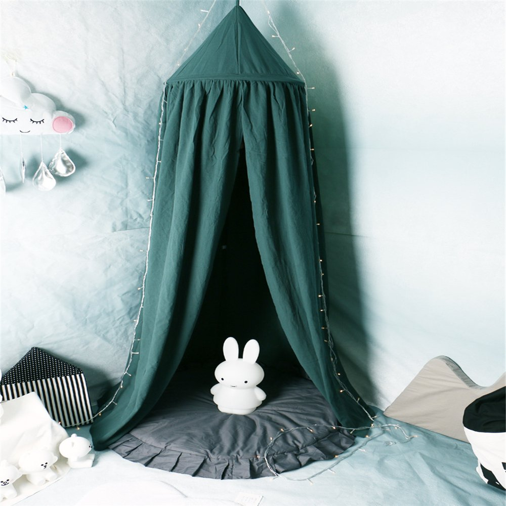 Bed Canopy for Children, Cotton Mosqutio Net Hanging Curtain, Baby Indoor Outdoor Play Reading Tent, Bed & Bedroom Decoration, Insect Net Protection Hung Kai