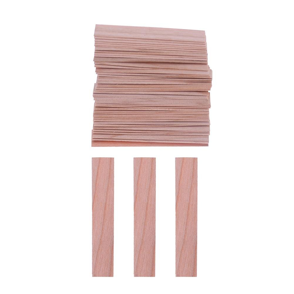 Vanpower 50PCS legno stoppini per candele di soia o cera-candela making Supplies (2)