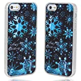 pay4save® 3D Blue Snowflake Sense Flash Light Case Cover for iPhone 5 LED LCD Auto Color Change