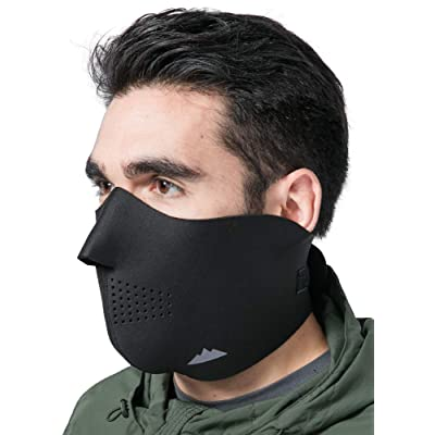 Half Face Ski Mask for Cold Weather - Half Balaclava Face Warmer - Men's Tactical Winter Face Cover For Skiing, Snowboarding, Running & Motorcycling - Fits Men & Women: Automotive