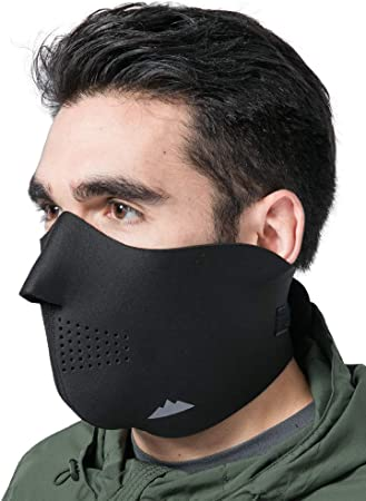 6 Pieces Fleece Half Face Mask Windproof Winter Face Mask Dustproof Breathable Mouth Cover for Men Women