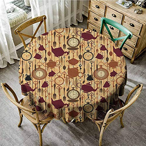 Round Tablecloth Tuscan Theme 35