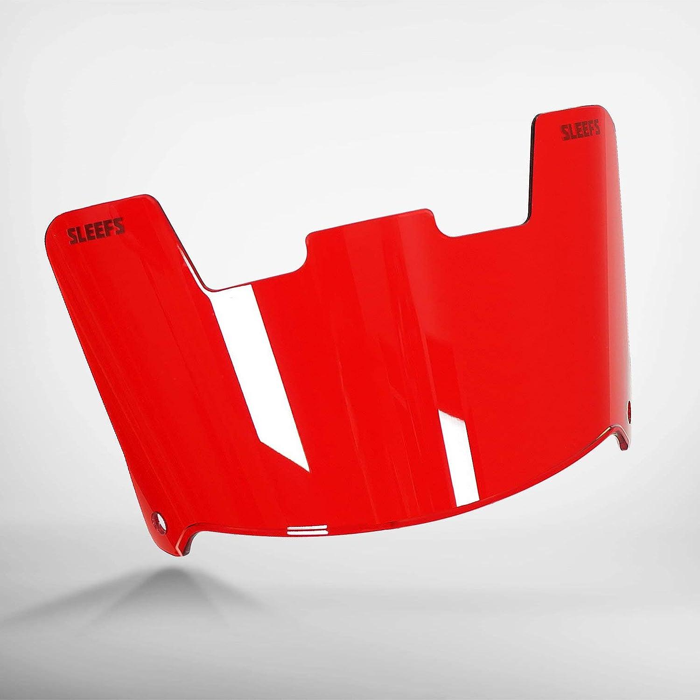 SLEEFS Red Rage Clear Helmet Eye-Shield Visor Helmet Accessories ...