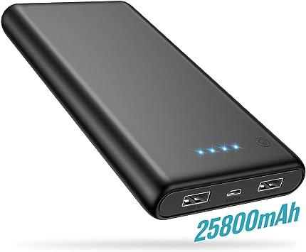 Trswyop Batería Externa 25800mAh, 【2019 Versión Mejorada】 Power ...