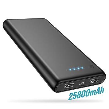 Trswyop Batería Externa 25800mAh, 【2019 Versión Mejorada】 Power Bank Alta Capacidad Cargador Portátil Móvil Pantalla LED con 2 Puertos USB Alta ...