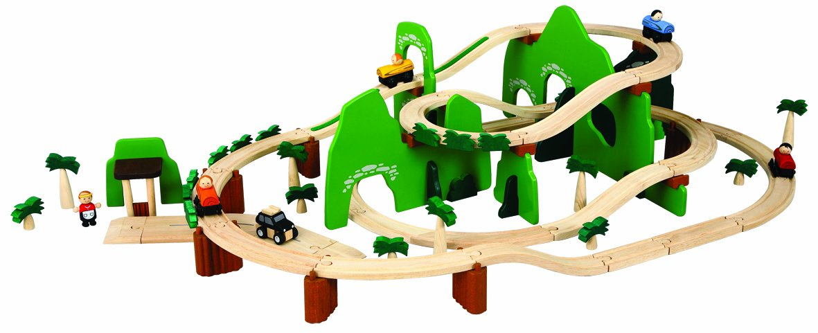 Amazon PlanToys Road Rail Adventure Play Set Toys Games – Plan Toys Garage Road System