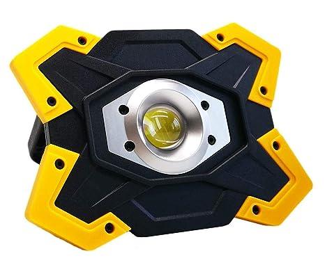 Faros de trabajo recargables LED, baterías de litio 6600 mAh ...