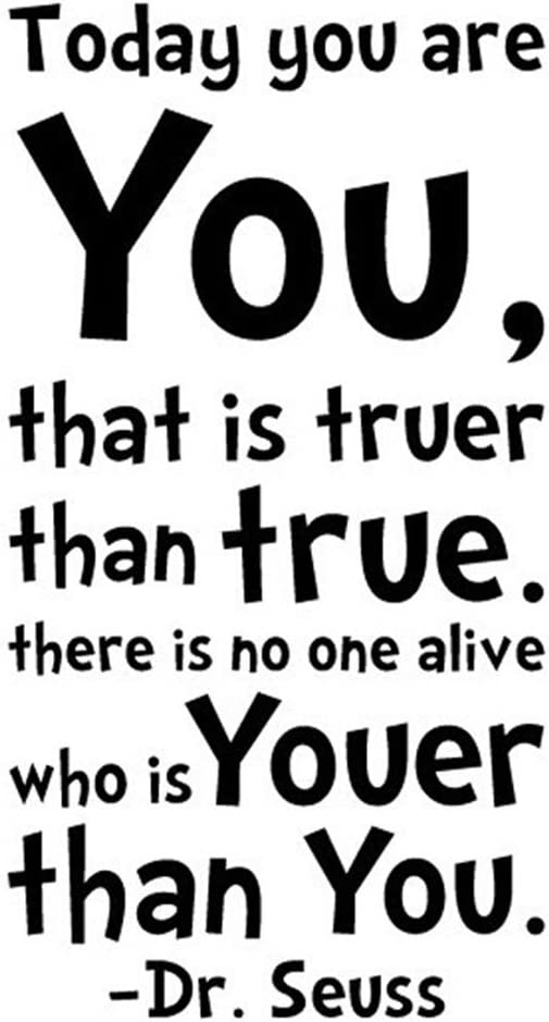 NYKKOLA Dr Seuss Today Vinyl Stickers Quotes and Sayings Home Art Decor Decal Love Kids Bedroom Wall Stickers & Murals