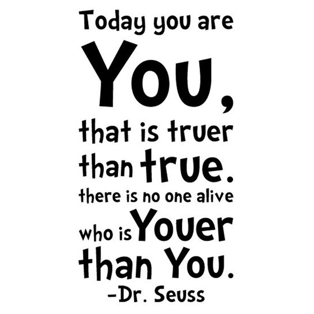 Amazon dr seuss quotes wall art decal you have brains in nykkola dr seuss today you are you wall art vinyl decals stickers quotes and sayings home thecheapjerseys Images