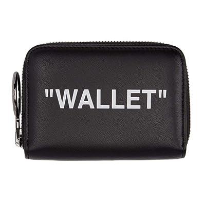 buy online 3f7d3 4188d (オフ-ホワイト) Off-White レディース 財布 Black Quote Zip Wallet [並行輸入品]