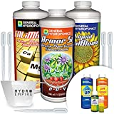 General Hydroponics CaliMagic ArmorSi KoolBloom - Liquid Quart and pH Control Kit Calcium Magnesium Silicate Nutrients to Get Healthier Stronger Plants with 5 Pipettes and 4oz Hydro Empire Cup
