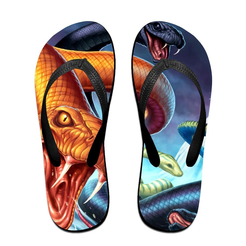 2f7b3ee0ed181 Amazon.com: Unisex V Flip Flops Animal Terror Snake Personalized ...