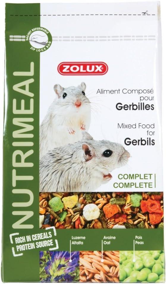 Nutrimeal - Bolsa de 800g de mezcla completa rica en sabor para jerbos