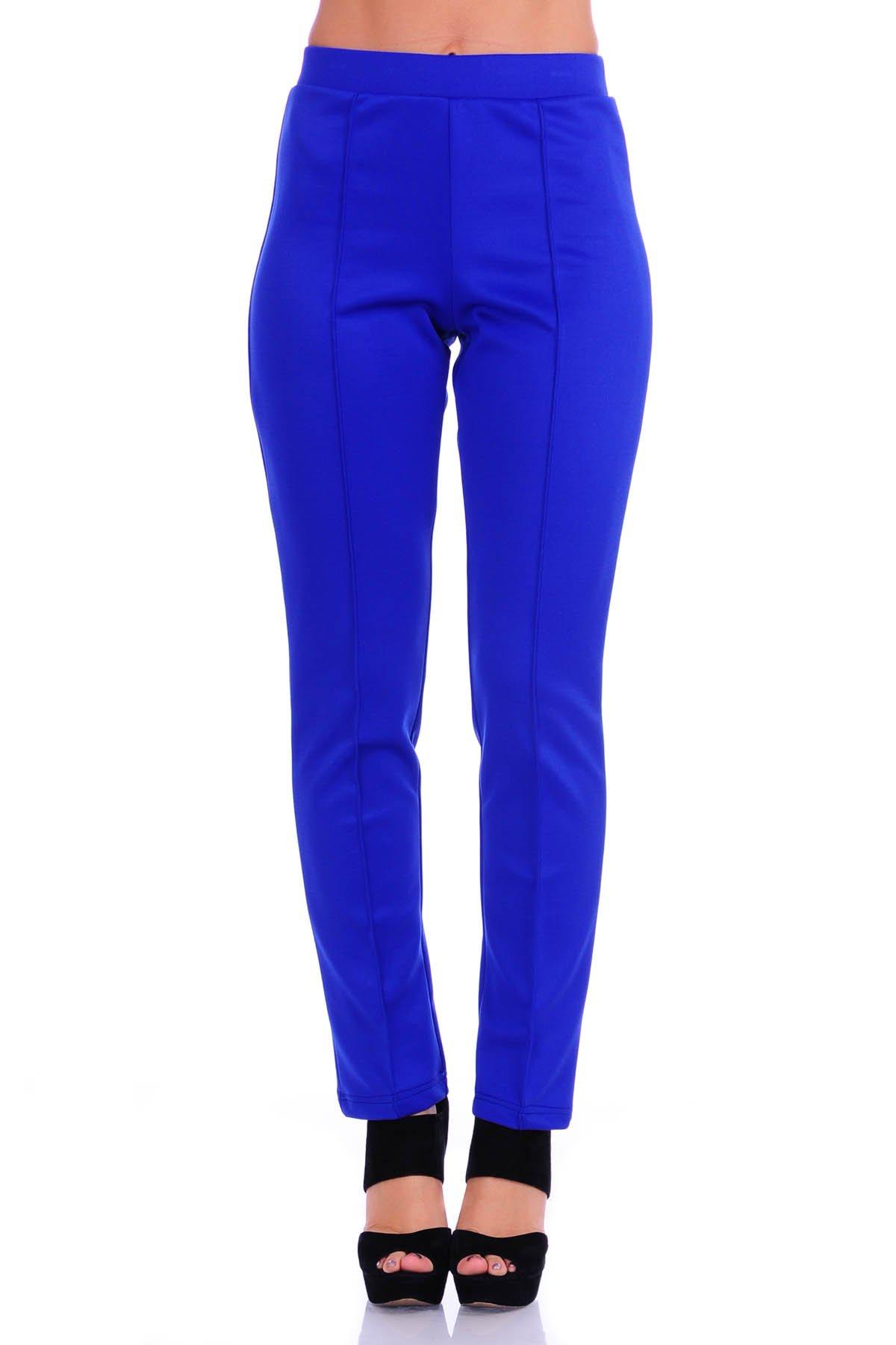 SR Women's Solid Stretch Straight Leg Slim Fit Pants, 3X, Royal
