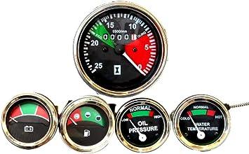 Massey Ferguson Öldruck Temperatur Kraftstoffverstärker Tacho Messgerät Set Für 240 253 260 265 150 158 240 253 260 261 265 270 275 282 283 285 290 298 Auto