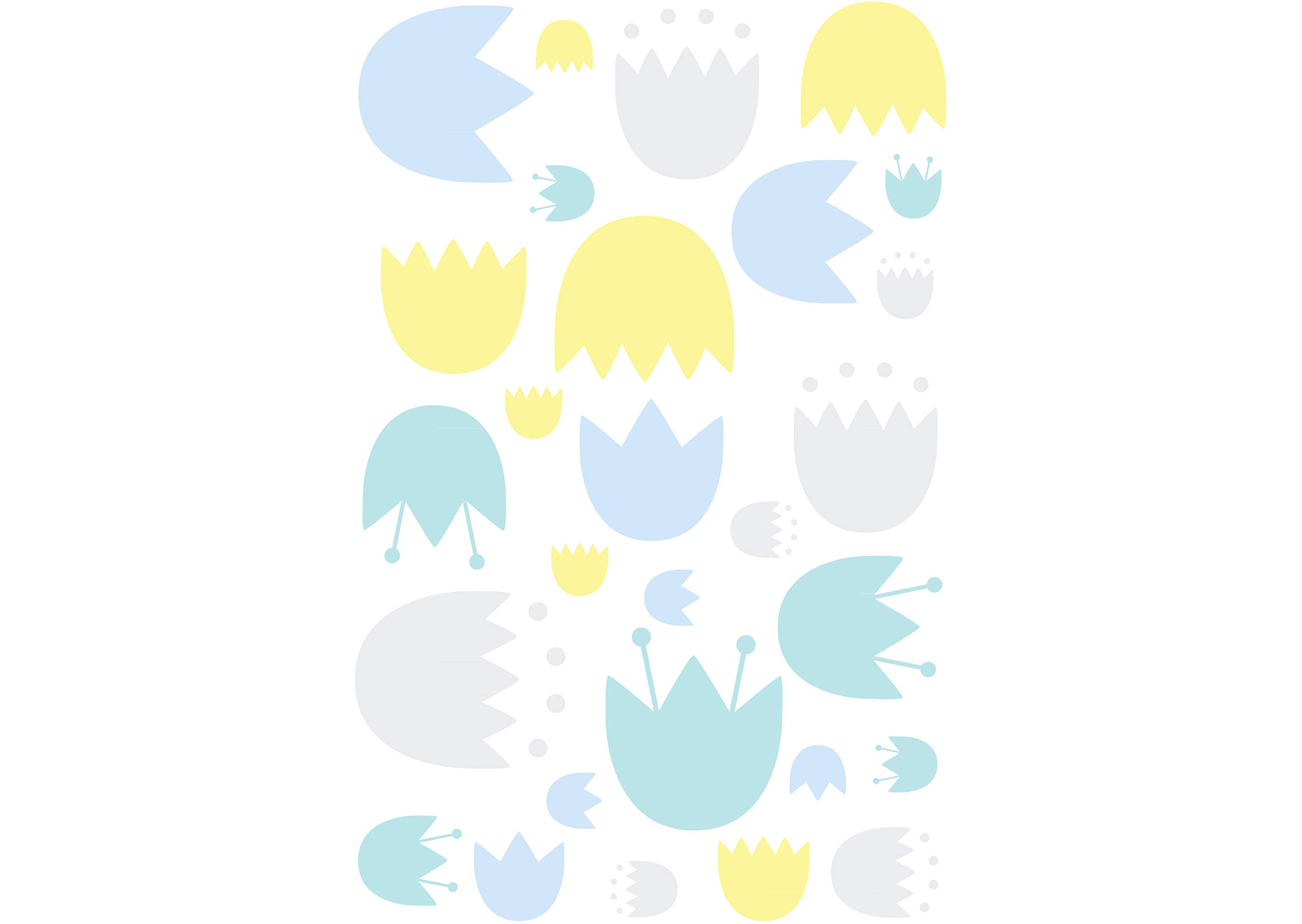 Fitted Crib Sheet Stroller Blanket Play Blanket Contour Changing Pad Cover Babyletto 6-Piece Set Tulip Garden Crib Skirt Wall Decals